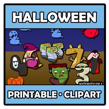 Printable Clipart - Halloween numbers