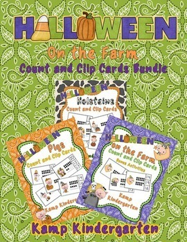 Halloween on the Farm Count and Clip Cards Bundle
