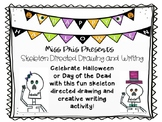 Halloween or Day of the Dead Skeleton Directed Drawing and