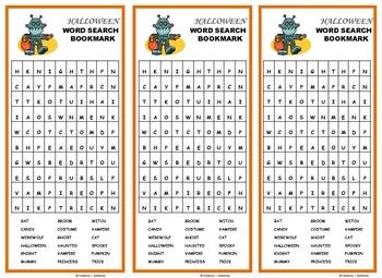 Halloween Bookmarks: Vocabulary