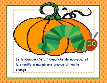 Halloween or Fall Theme-The Very Hungry Caterpillar In OCTOBER in French