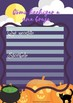 Halloween pack: Práctica de lectoescritura