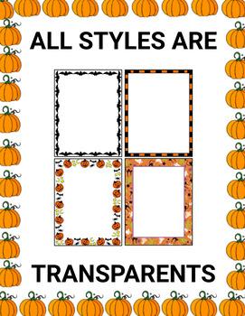 Halloween page borders