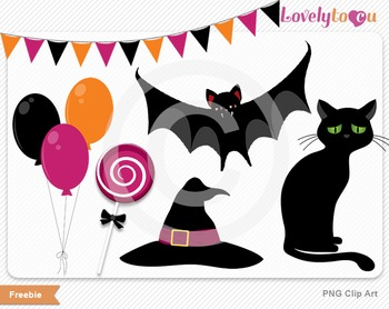 Halloween party digital PNG clip art graphics