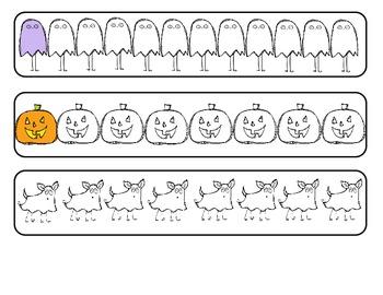 Halloween patterning math center- Grade 1