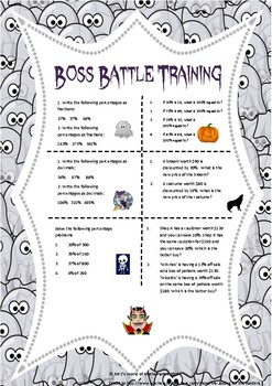 Halloween percentages - boss battle (2019 product)