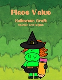 Halloween place value craft. Spanish and English
