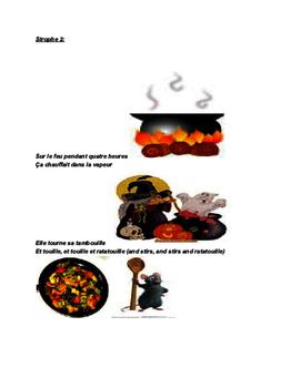 Halloween poem and worksheet/ la soupe de la sorcière