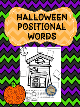 Halloween positional words and following directions printable