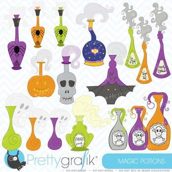 Halloween potions clipart commercial use, vector graphics - CL390