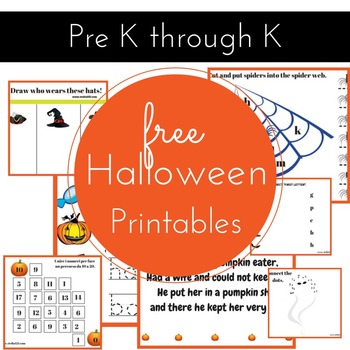 Halloween pre K activity pack