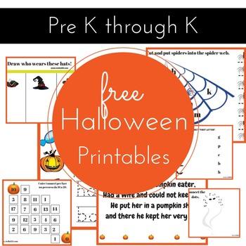 Halloween pre K activity pack