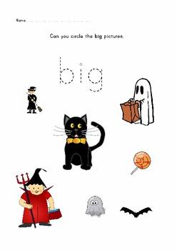 Halloween preschool and prek teaching pack.