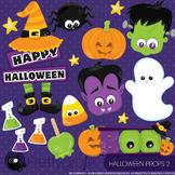Halloween props 2 clipart commercial use, graphics, digital clip art - CL919