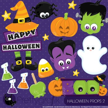 Halloween props 2 clipart commercial use, graphics, digital clip art - CL919
