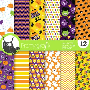 Halloween props papers, commercial use, scrapbook papers - PS755