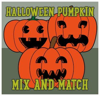 Halloween pumpkin mix and match clipart