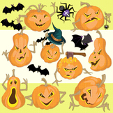 Halloween pumpkins clipart, Jack O'Lantern Cliparts, Pumpk