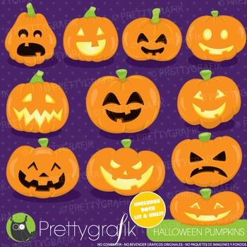 Halloween pumpkins clipart commercial use, graphics, digital clip art - CL921