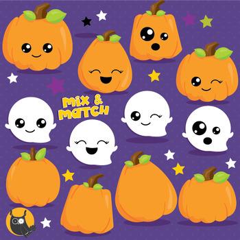 Halloween pumpkins clipart commercial use, vector graphics