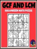 Halloween MATH puzzle GCF LCM