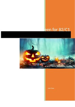 Halloween reading and speaking for B2 and C1