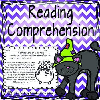 Halloween  reading comprehension - coloring according to the story