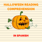 Halloween reading comprehension in Spanish/ Comprension le