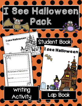 Halloween reproducible book- includes lap book and writing activity