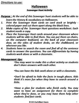 Halloween Activity - Halloween Scavenger Hunt