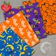 Halloween Digital Papers, Ghosts Scrapbook Papers and Backgrounds, AMB-475