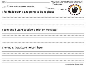 Halloween sentence correction