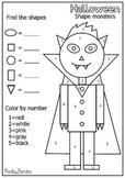 Halloween shape monsters