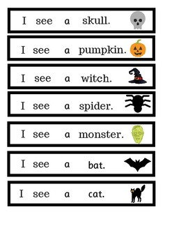 Halloween sight word activity