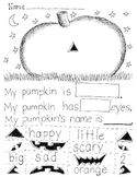Halloween sight word cut and paste sentences