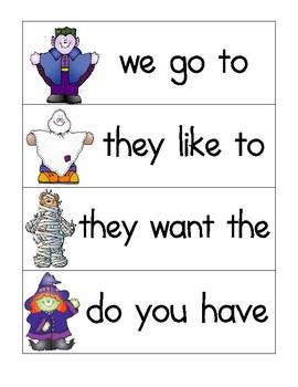 Halloween sight word phrases
