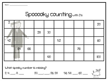 Halloween skip counting Math centers- Grade 1
