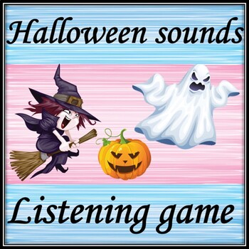 Halloween sounds. Guessing game.