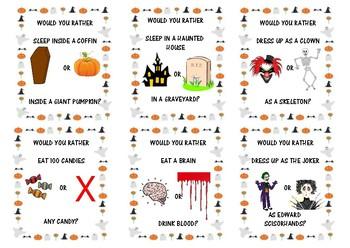 Halloween speaking cards