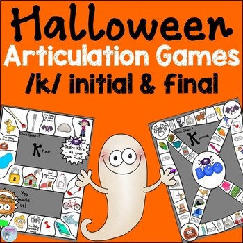 Halloween speech activities k words