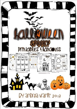 Halloween - spooky printables and handouts