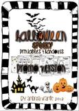 Halloween spooky printables and handouts PROMO version