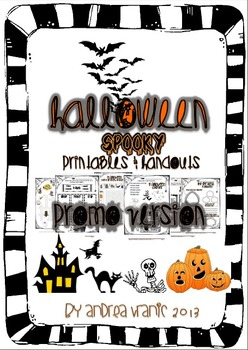 Halloween spooky printables and handouts PROMO version