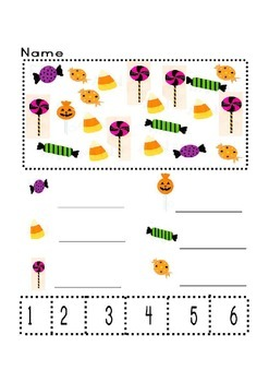 Halloween sweets search and count