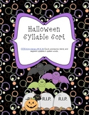 Halloween syllable sort - common core aligned