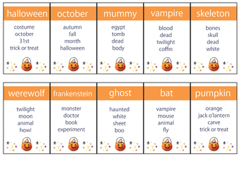 Halloween taboo - vocabulary game