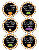 Halloween tags, gift tags, trick or treat, teacher gifts,