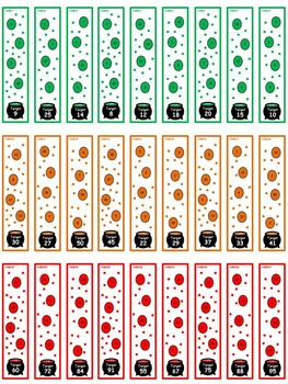 Halloween target number cards