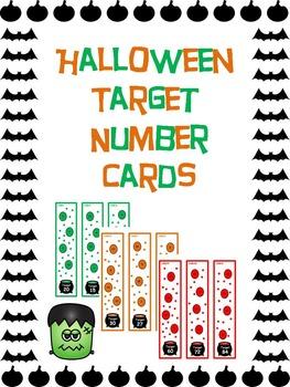Halloween target number cards