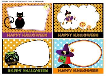 Halloween task cards bundle